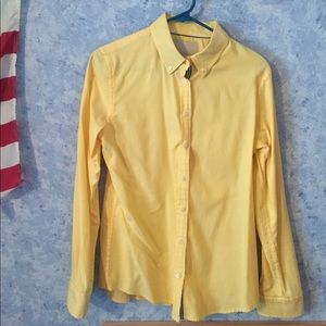 Banana Republic yellow oxford shirt